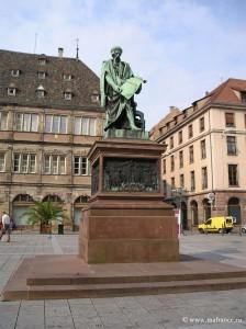 Памятник Гутенбергу