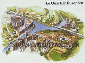 Карта европейского квартала