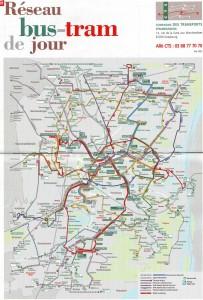 Транспортная карта Страсбурга (автобус)