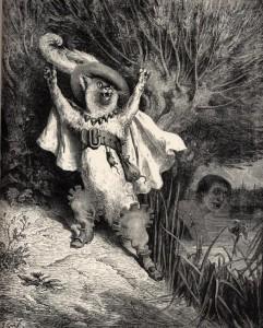 «Au secours! au secours! voilà M. le marquis de Carabas qui se noie!»