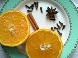Апельсин со специями. Шаг 1