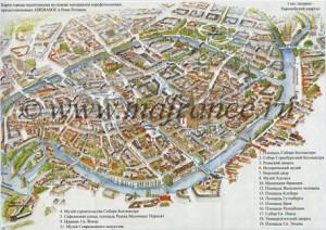 Карта достопримечательностей Страсбурга