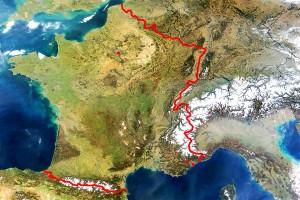 География снежных районов Франции