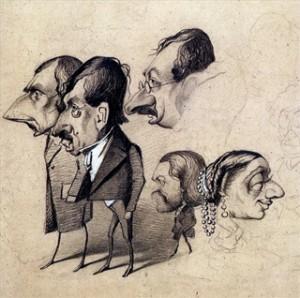 Une des caricatures de Monet