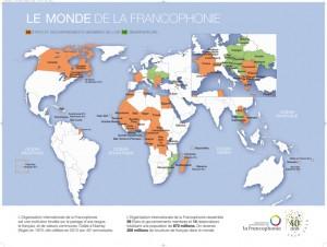 Мировая карта Франкофонии