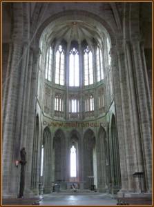 Своды церкви Мон-Сен-Мишель