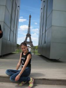 Наталия Намозова в Париже