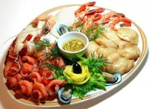 морепродукты- закуска к кальвадосу