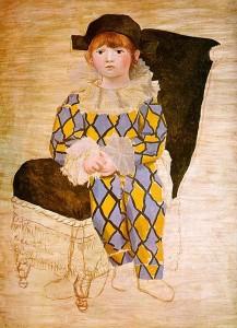 картина пикассо поль в костюме арлекина
