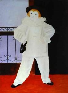 картина пикассо поль в костюме пьеро
