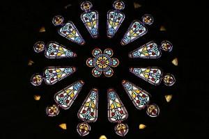 витражи кафедрального собора в страсбурге