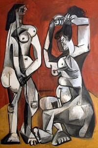 картина пикассо женщины за туалетом