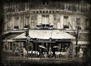 парижское кафе Cafe Les Deux Magots