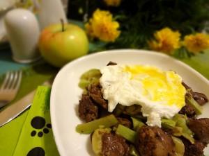 горячая закуска из яиц пашот