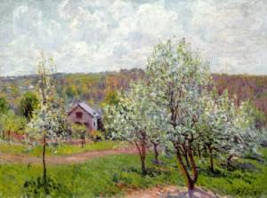 «Весна в окрестностях Парижа» А.Сислей