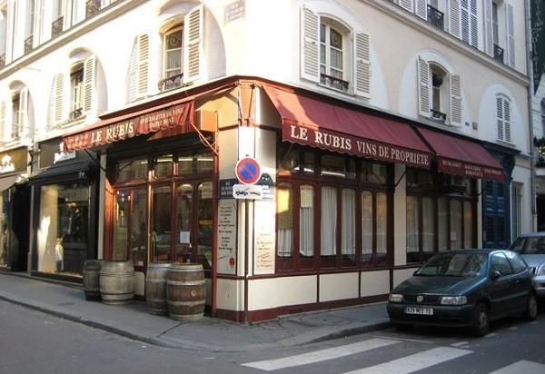"""кафе в Париже """"Le Rubis """""""