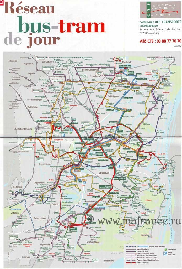 Карта Страсбурга